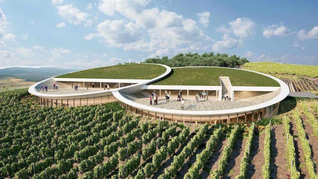 Imagen Tokaj Sauska Winery View Design Plan Tokaj Bord Architect Studio
