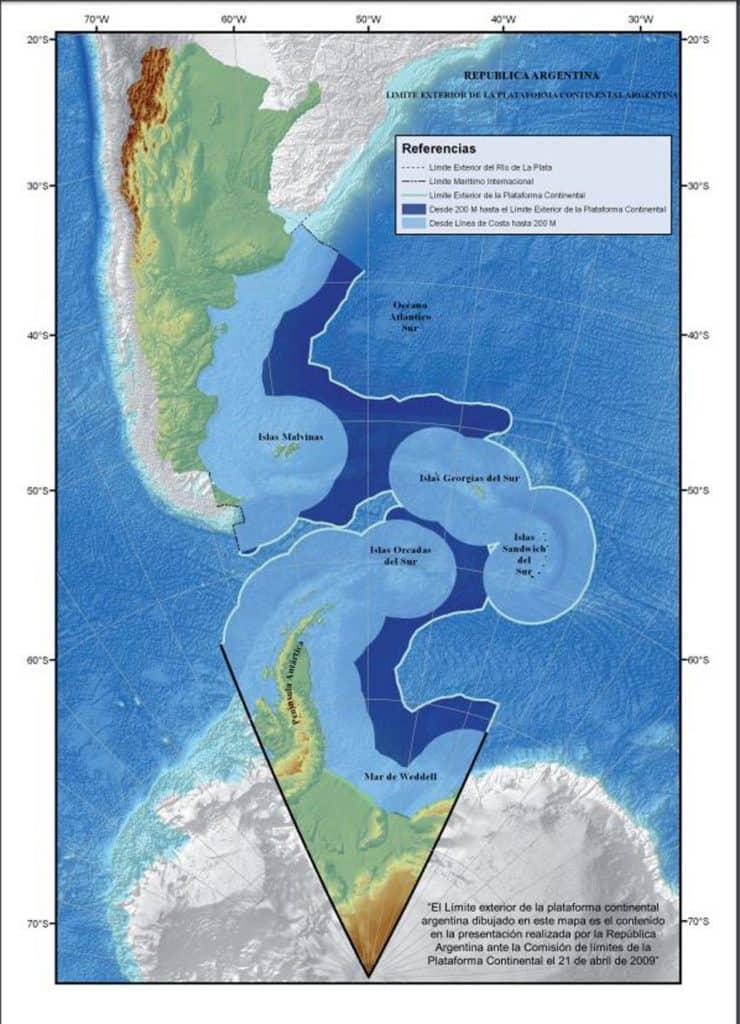 Argentina avanza en el diseño de un nuevo mapa para representar su disposición geográfica