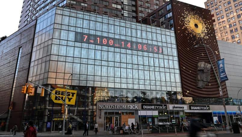 Este reloj de Nueva York muestra la cuenta regresiva del tiempo tenemos hasta alcanzar el desastre climático