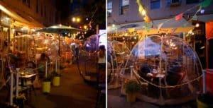 Este restaurante de Nueva York incorporó domos geodésicos para mantener la distancia social