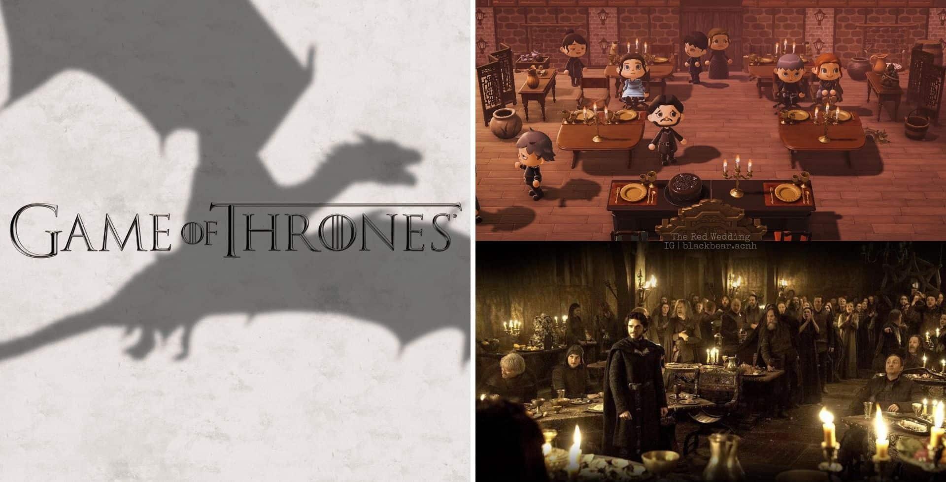 Recrean una importante escena de Game of Thrones en Animal Crossing y el resultado es increíble
