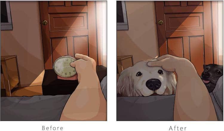 imagen tener una mascota Estas ilustraciones creadas por un artista taiwanes revelan como es la vida antes y despues de tener una mascota 14