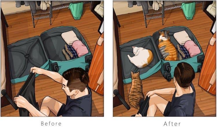imagen tener una mascota Estas ilustraciones creadas por un artista taiwanes revelan como es la vida antes y despues de tener una mascota 10