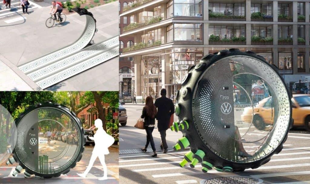 Diseñan Volkswagen MUT. E, un medio de transporte urbano inspirado en los pulpos