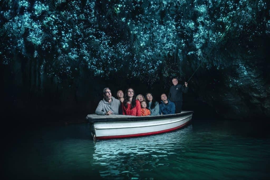 Cueva de luciernagas en Nueva Zelanda