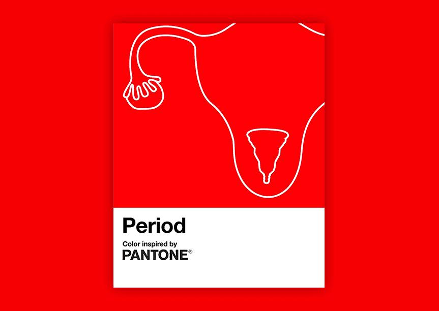Pantone lanza Period, un tono rojo que coincide con el color del flujo menstrual saludable para romper los estigmas y tabúes sobre la menstruación