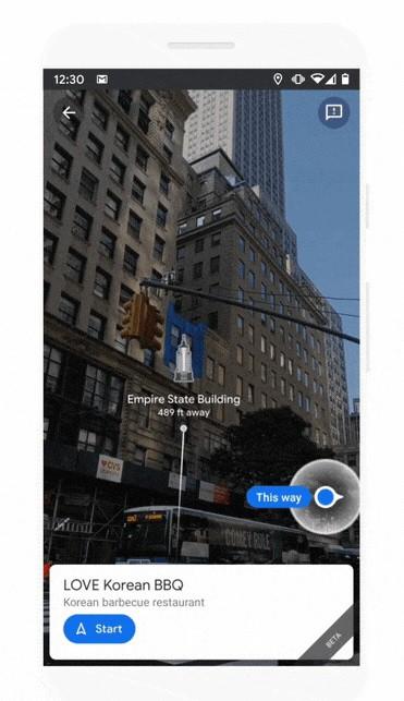 Google Maps actualiza su funcionalidad Live View para encontrar los lugares de una forma más fácil