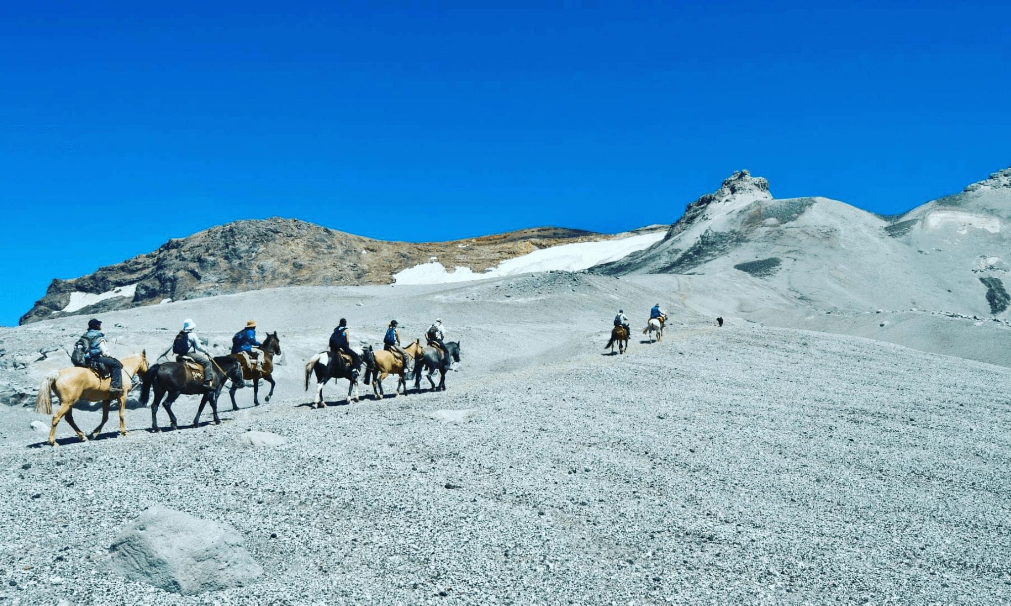 Cabalgatas al cráter del volcán Copahue