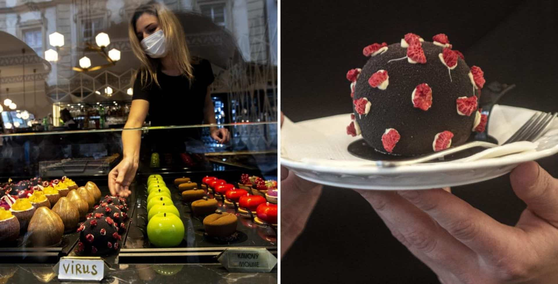 República Checa: un café de Praga creó un postre con la forma del coronavirus