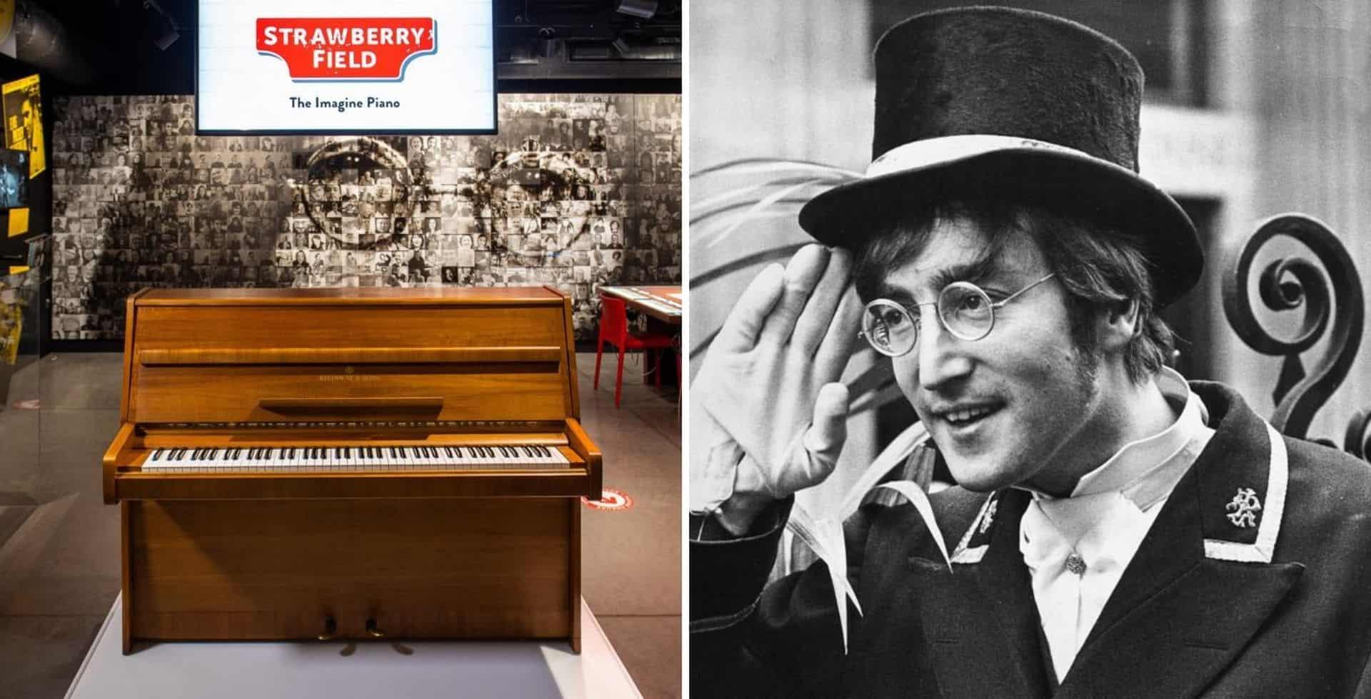 Inglaterra: suman el piano con el que John Lennon escribió Imagine a la muestra de Strawberry Field en Liverpool