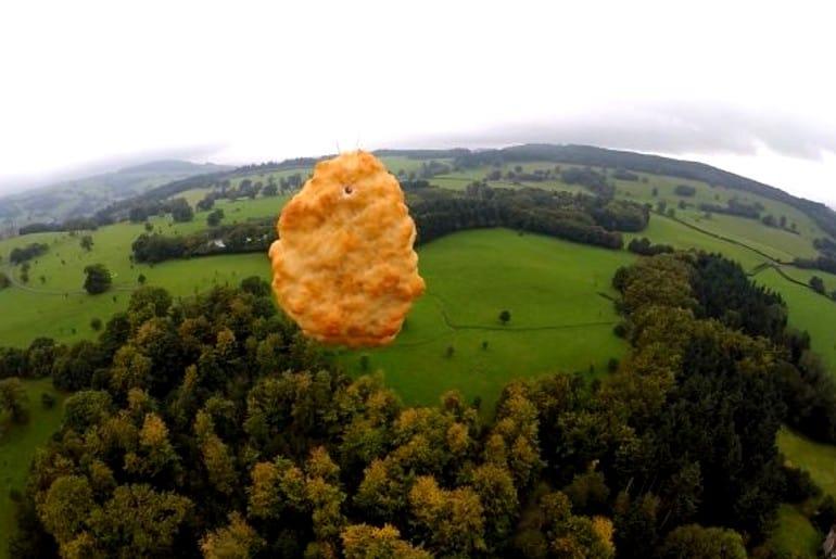 nugget de pollo al espacio