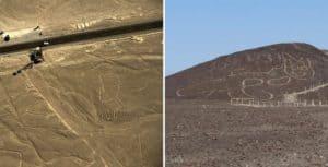 Peru: se descubrió la figura de un gato de 37 metros entre las líneas de Nasca