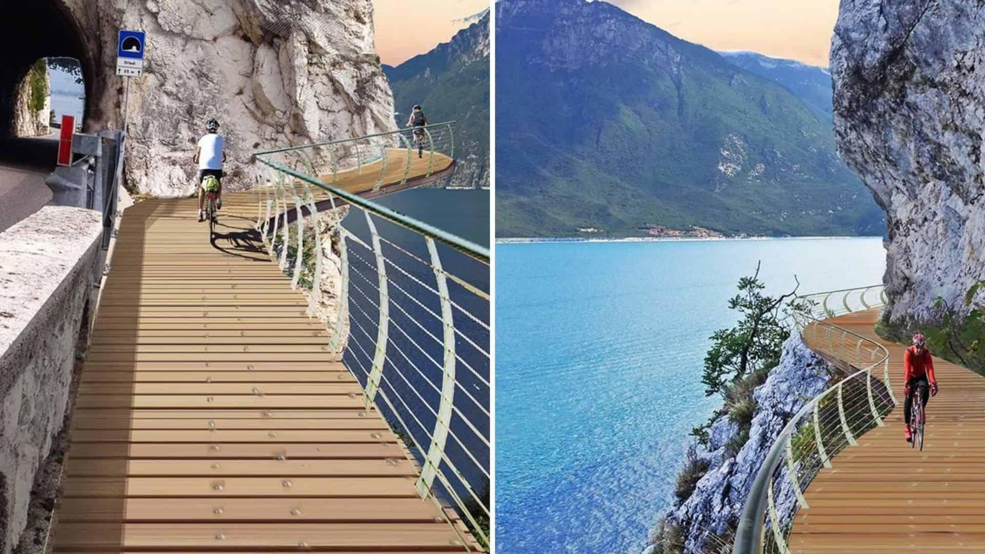 Italia: construyen un sendero para bicicletas que rodeará el Lago de Garda