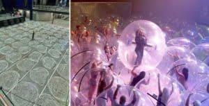 Estados Unidos: se realizó un recital en el que la banda y el público se encontraban en burbujas individuales
