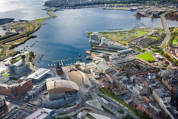 Cardiff Bay Cardiff Aerial South Towns & Villages