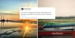 El aeropuerto de Dublín, Irlanda, ofreció su apoyo a un usuario de Twitter que estaba pasando un mal momento