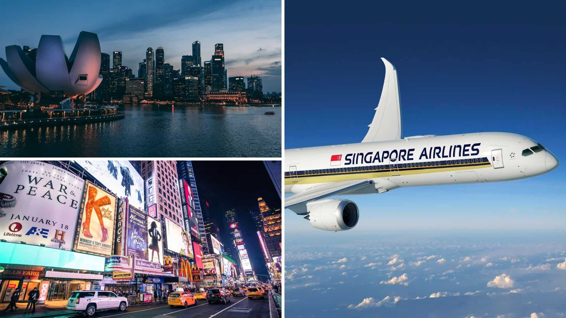 Singapore Airlines inicia sus vuelos sin escala entre Singapur y Nueva York a partir de Noviembre