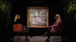 La pintura de Banksy 'Show me the Monet' fue subastada por casi 10 millones de dólares