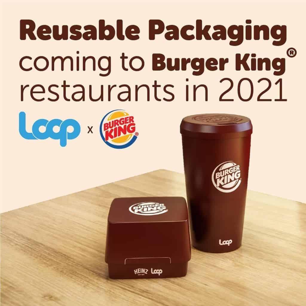 Burger King probará envases reutilizables para sus hamburguesas y bebidas durante el 2021