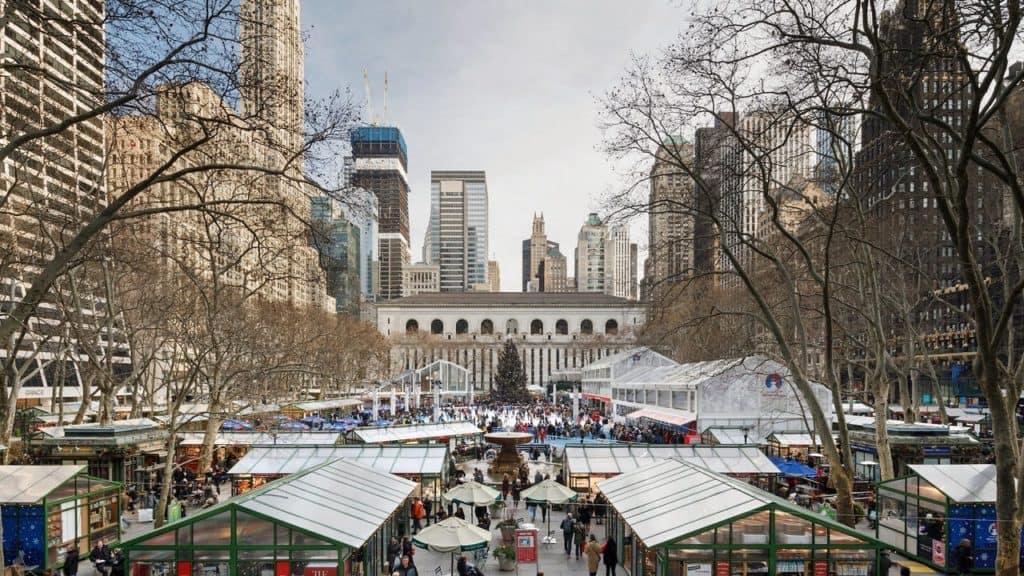 Nueva York empieza la cuenta regresiva para Navidad desde Bryant Park a partir del 30 de octubre