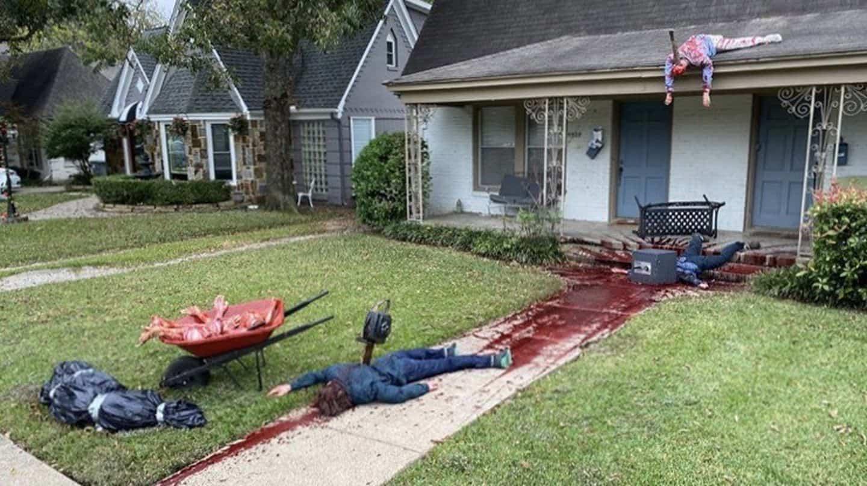 Decoró tan bien su casa por Halloween que vecinos denunciaron a la policía para corroborar que no sea un hecho real 1