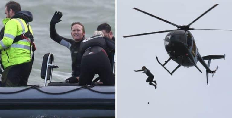 Un hombre saltó sin paracaídas desde un helicóptero a 40 metros de altura en un intento de romper el récord mundial
