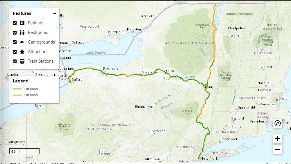 Empire State Trail: el sendero de 1200 kilómetros que va desde Nueva York hasta Canadá