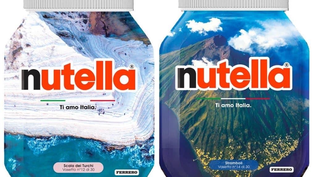 Nutella cuenta con una edición especial de 30 ejemplares que celebran lugares de Italia