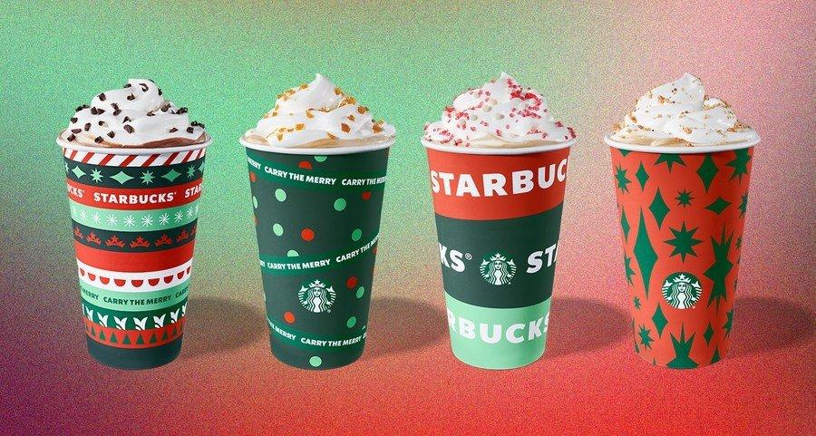 imagen Starbucks Starbucks presento sus nuevos vasos con disenos en rojo y verde para celebrar la llegada de la proxima Navidad 3