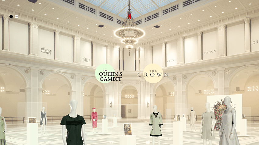 El Museo de Brooklyn presenta una exhibición virtual que permite ver todo el vestuario de las series The Crown y The Queen's Gambit
