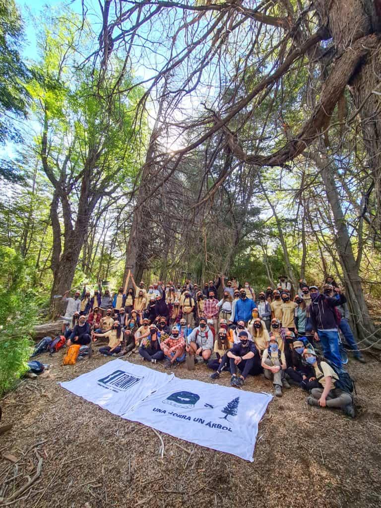 Un grupo de voluntarios viajó a la Patagonia argentina para reforestar árboles afectados por incendios forestales en 1999