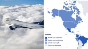 La aerolínea Delta diseñó un mapa interactivo que permite ver las restricciones por COVID-19 de los diferentes países