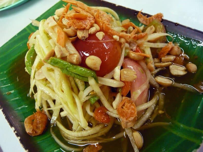 mejores platos de comida tailandesa Som Tam