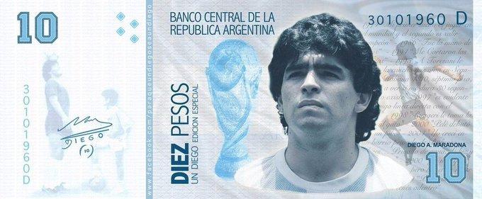 Argentina tras la muerte de Diego Maradona: Piden que el billete de 10 pesos tenga su imagen