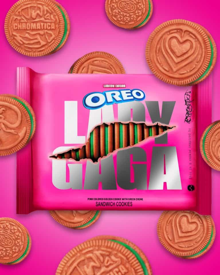 Lady Gaga lanzará su propia edición limitada de Oreo: galletitas rosas con relleno verde en el 2021