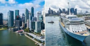 "Royal Caribbean completó su primer viaje con ""destino a ninguna parte"" en Singapur"
