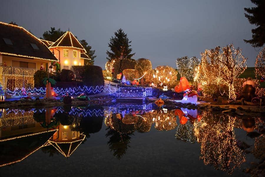 La casa con la mayor decoración navideña de Europa existe: está en Austria y fue decorada con seiscientas mil luces