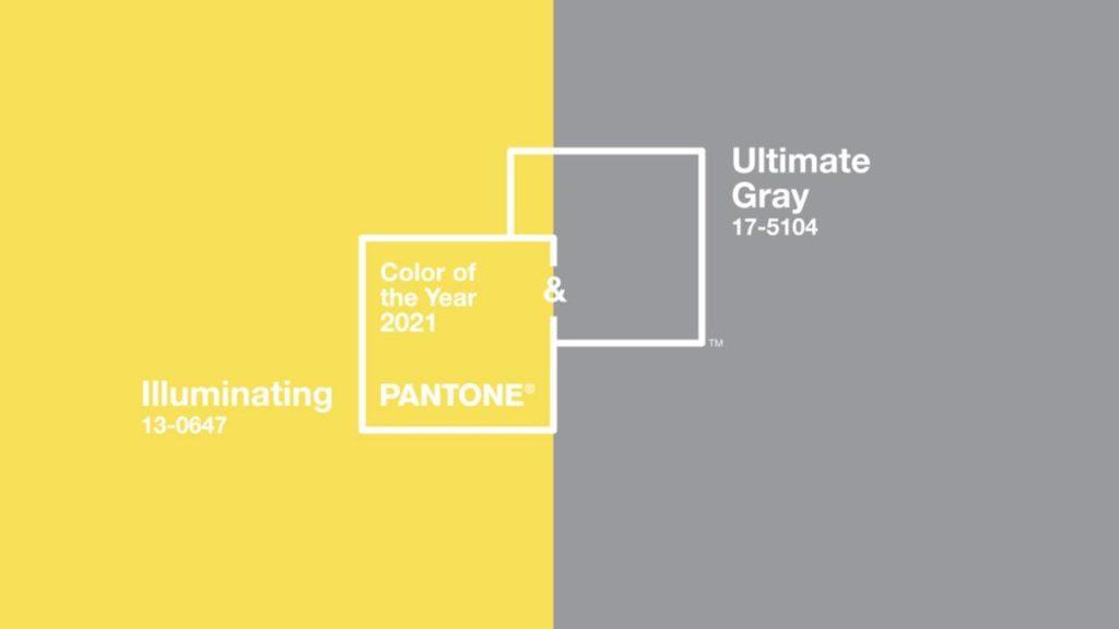 """Pantone acaba de anunciar los """"colores del año 2021"""": el amarillo Illuminating y el gris Ultimate Gray"""