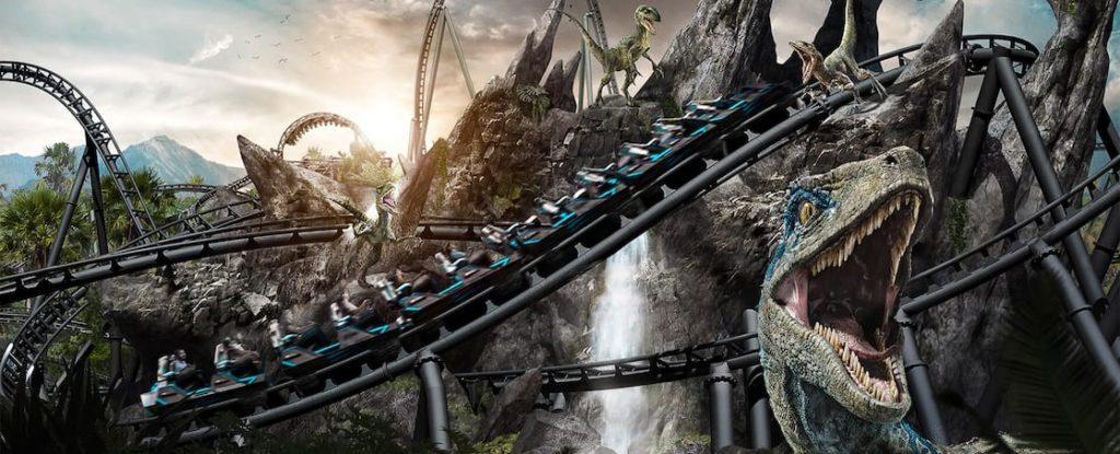 Así será la montaña rusa Jurassic World VelociCoaster que estará disponible en Universal Orlando en 2021