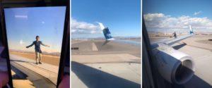 Un hombre fue arrestado por subirse al ala de un avión que estaba por despegar en Las Vegas, Estados Unidos