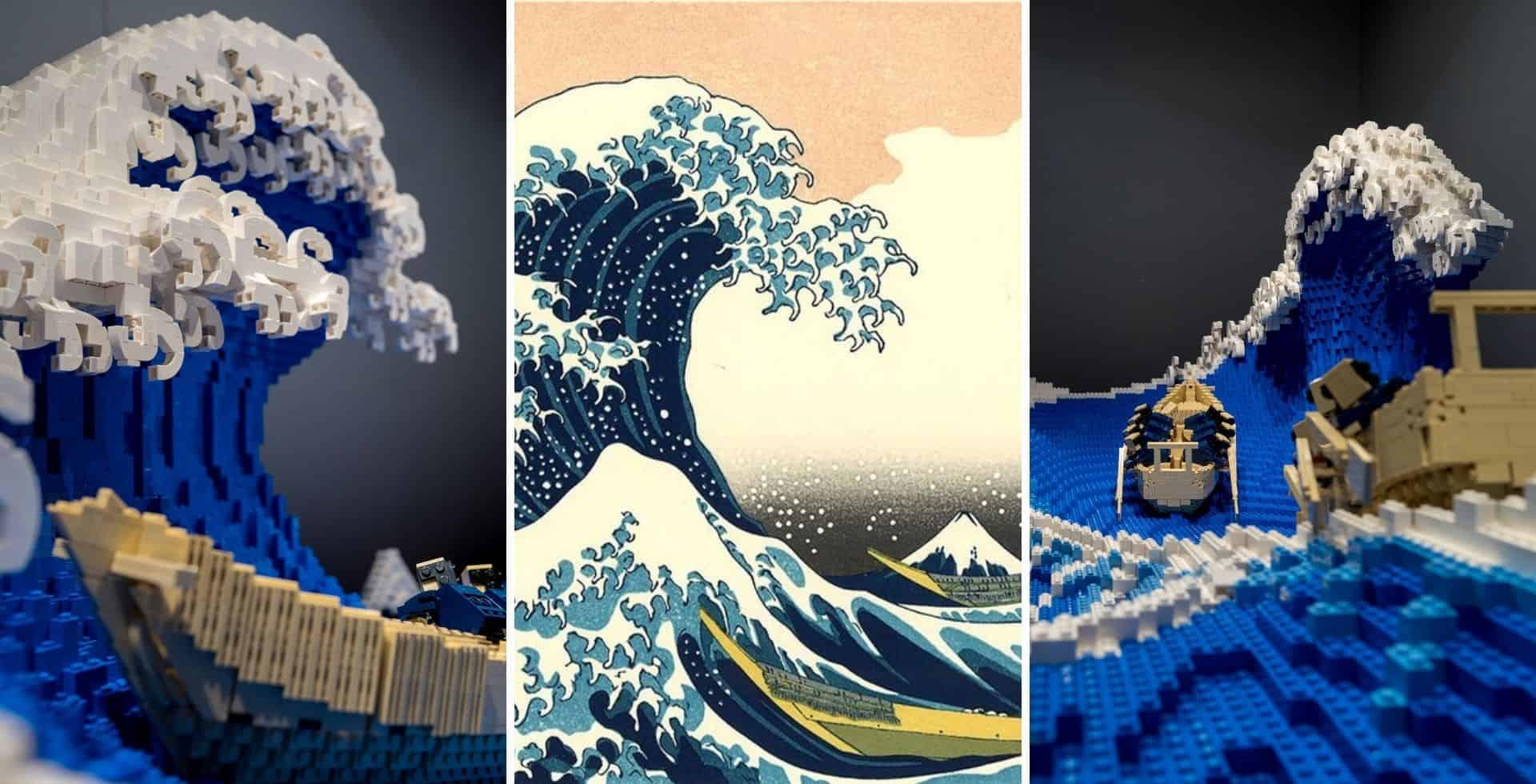Un experto en LEGO recreó la obra 'La gran ola de Kanagawa' en 3D