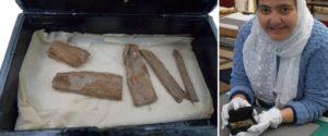 Encontraron elementos de la Pirámide de Guiza en una caja de cigarros en Aberdeen, Escocia
