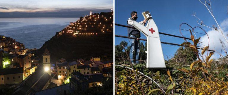 Uno de los mayores pesebres del mundo rinde homenaje a trabajadores de la salud en Italia
