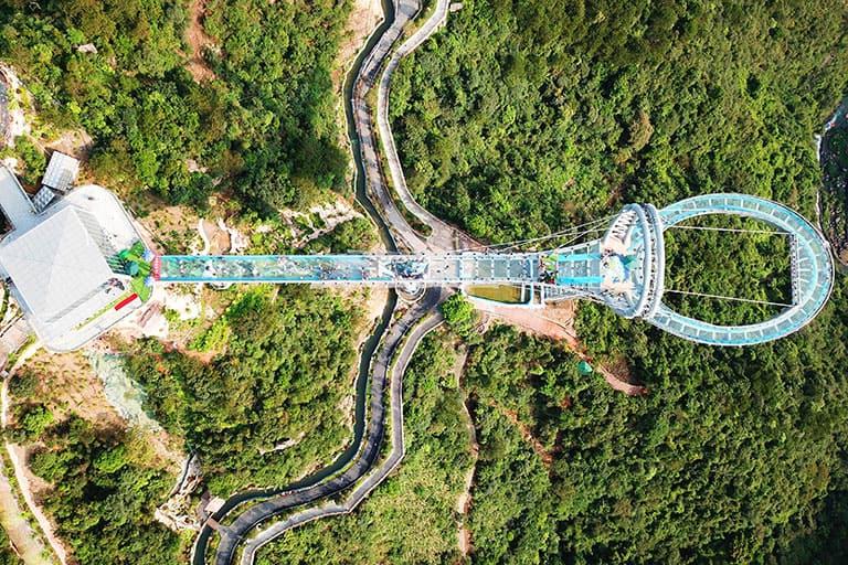 imagen worldsteel Glass Corridor Huangtengxia Overhead HR