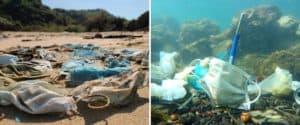 Estiman que más de mil quinientas millones de mascarillas han terminado en el océano durante 2020