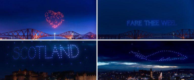 VIDEO - El cielo de Escocia se iluminó para la celebración virtual de Hogmanay, el último día del año