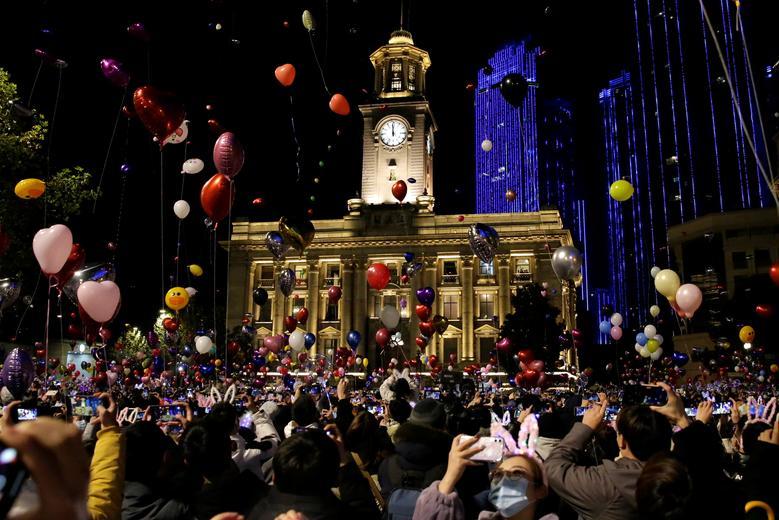Wuhan, China - Así se recibió al 2021 alrededor del mundo