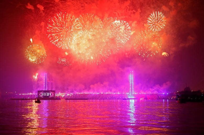 El Cairo, Egipto - Así se recibió al 2021 alrededor del mundo