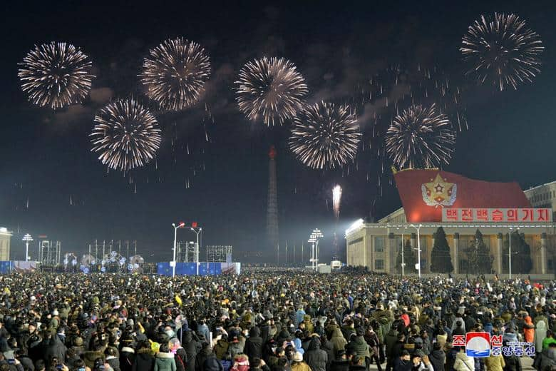 Pyongyang, China - Así se recibió al 2021 alrededor del mundo