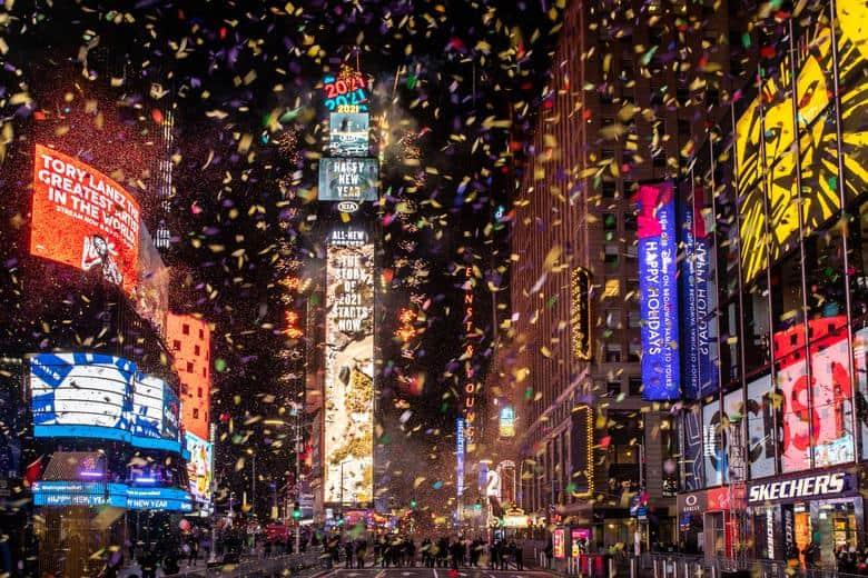 Nueva, York, Estados Unidos - Así se recibió al 2021 alrededor del mundo